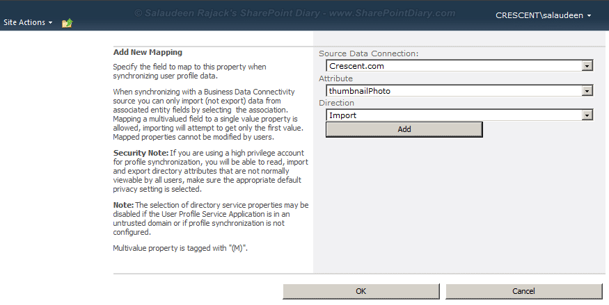sharepoint 2010 import picture from active directory
