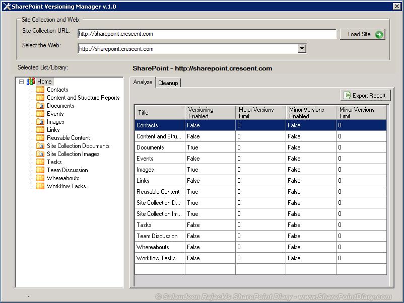 sharepoint versioning manager v10 1