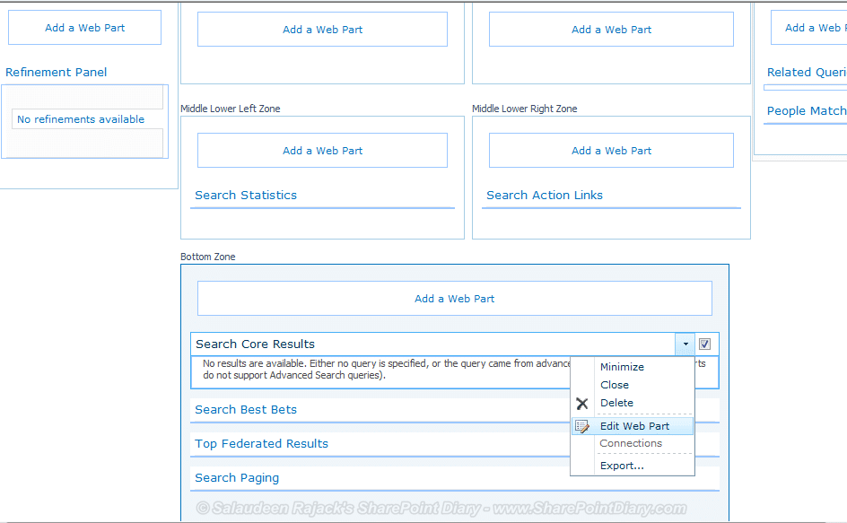 9 edit search core results web part