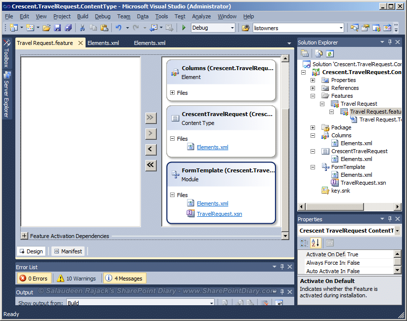 sharepoint 2010 content type wsp