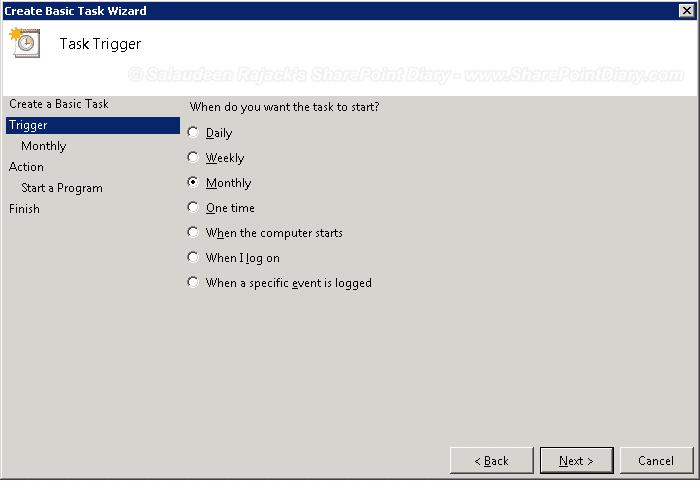 powershell script task scheduler windows 2008 r2