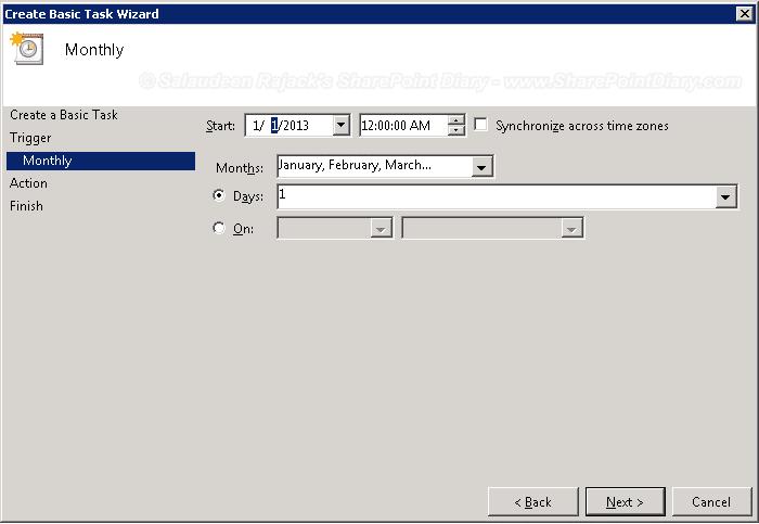 schedule powershell script using task scheduler