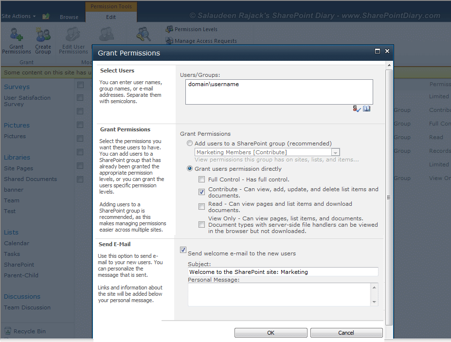 how to add users to sharepoint 2010 site