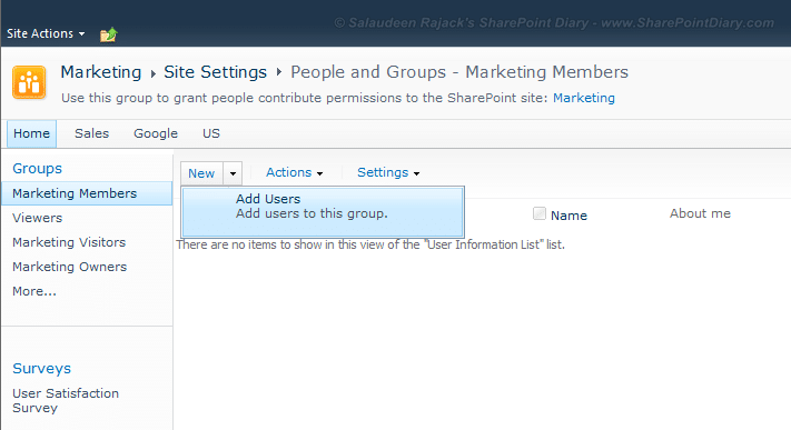 add users to sharepoint 2010 group