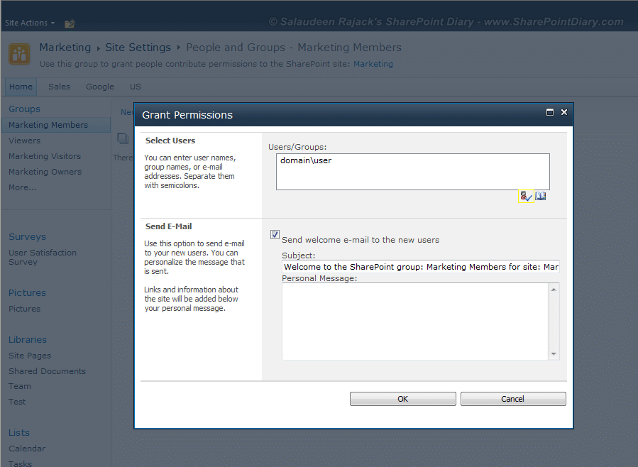 how to add users to sharepoint 2010