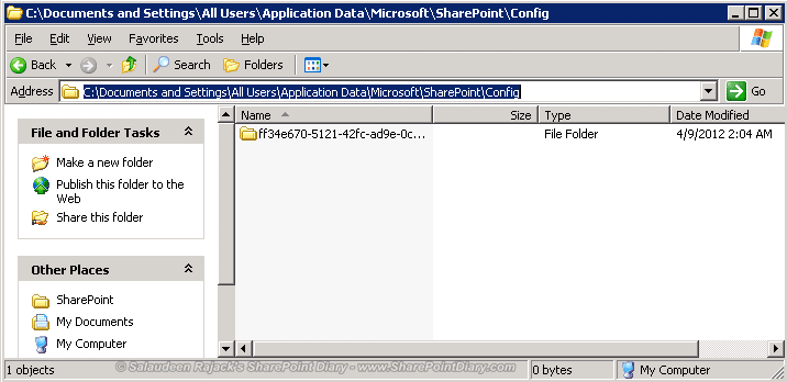 How to Clear SharePoint Config Cache