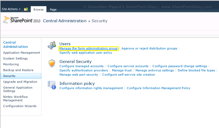 how to add sharepoint farm administrator