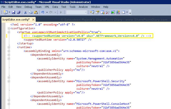 PowerGUI .Net framework upgrade issue