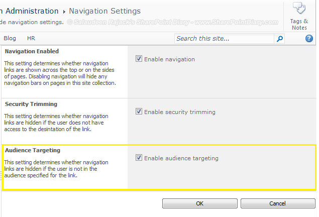 Audience Targeting Missing in SharePoint 2010