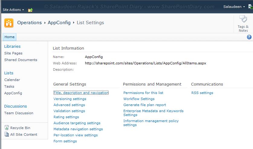 sharepoint 2010 delete list missing