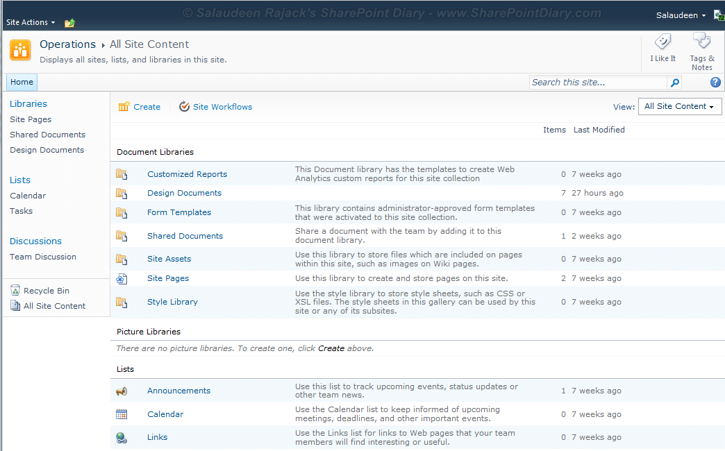 hide sharepoint list from view all site content