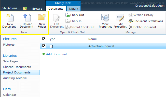 how to hide upload menu in sharepoint 2010 ribbon