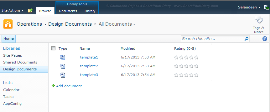 sharepoint 2010 how to enable rating