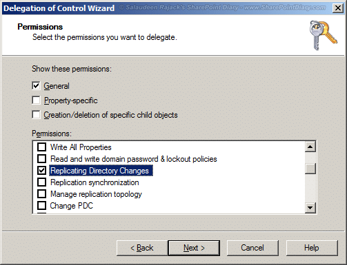 8 sharepoint 2010 grant replicate directory changes