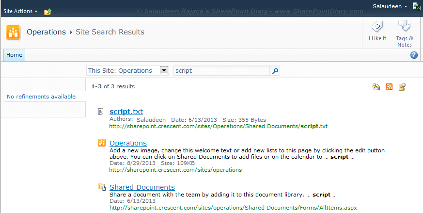 enabling wildcard search in sharepoint