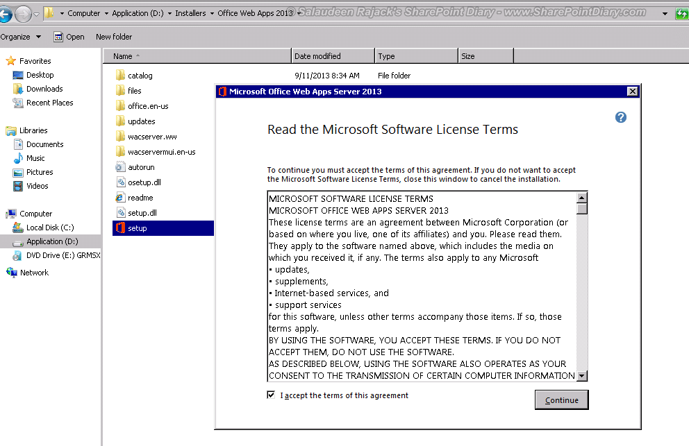 1 sharepoint 2013 office web apps install