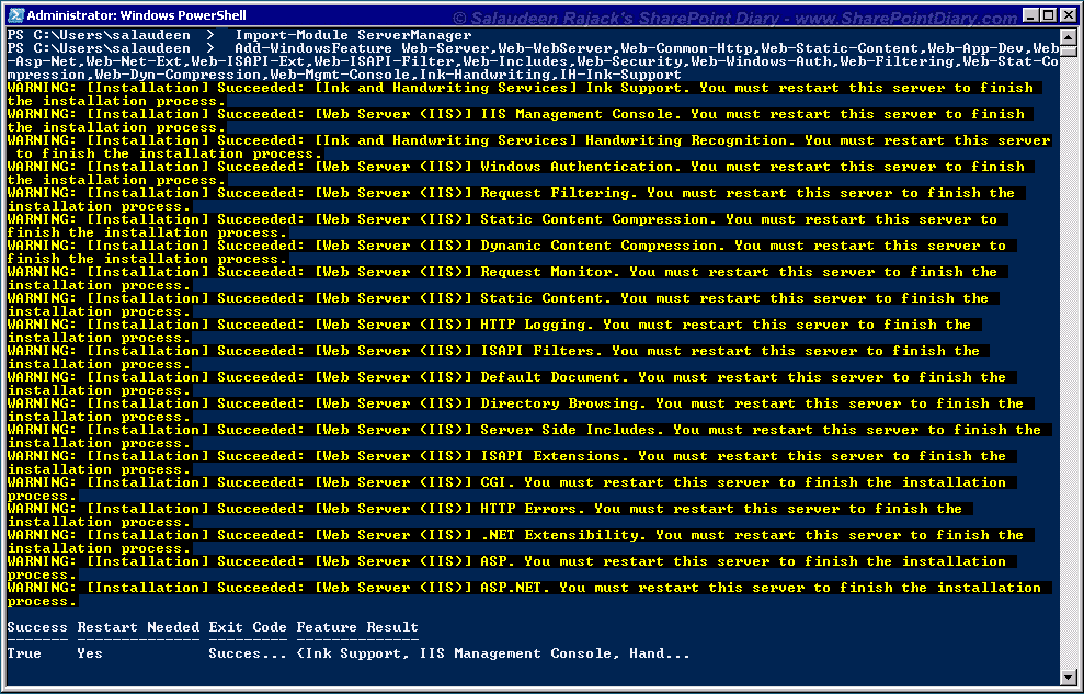 add roles with powershell