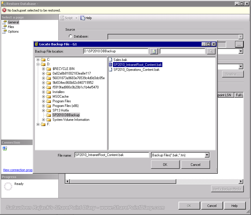 Locate SQL Server backup source
