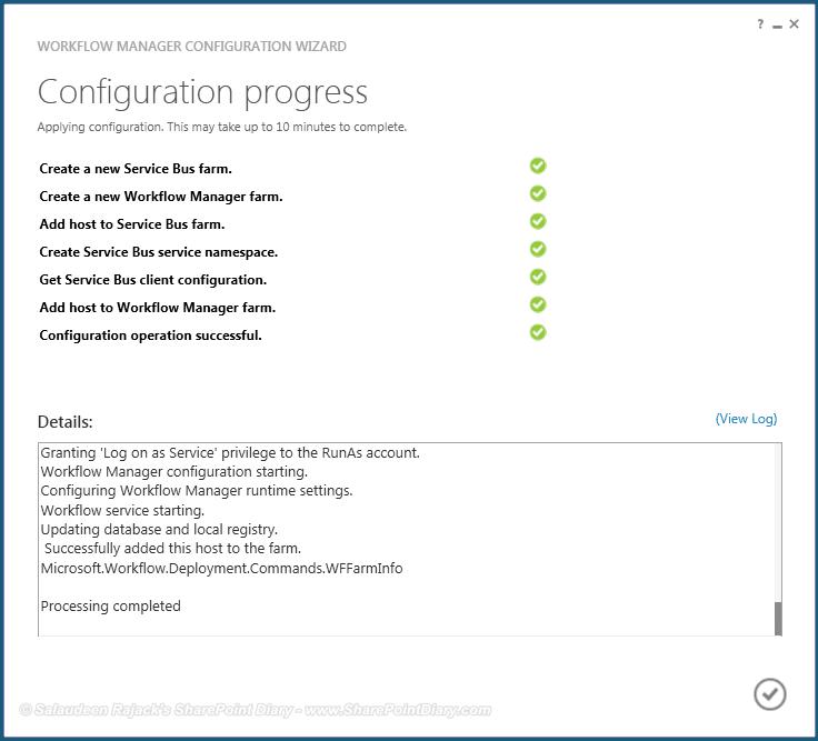 sharepoint 2013 workflow manager installation