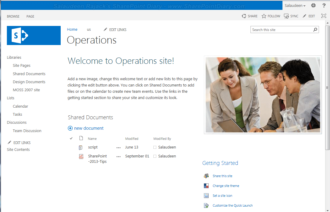 upgraded sharepoint 2013 site