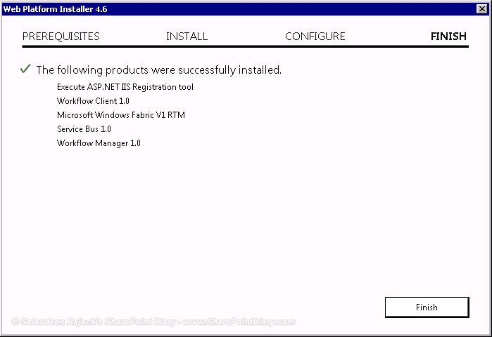 web platform installer done
