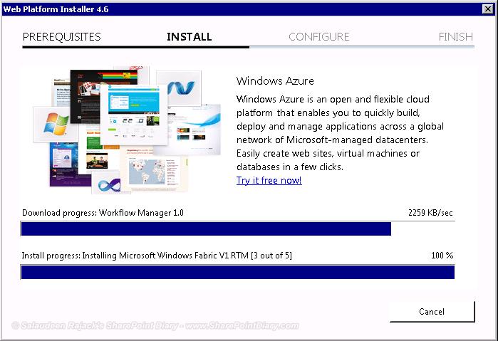 web platform installer in progress