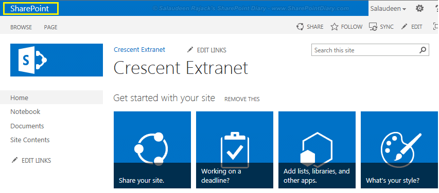 sharepoint 2013 add link to suite bar powershell