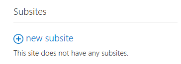 How to create a subsite in SharePoint