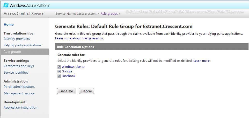 generate rule group 2