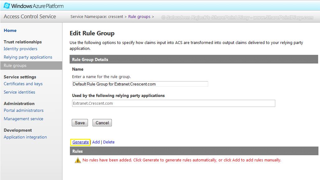 generate rule group