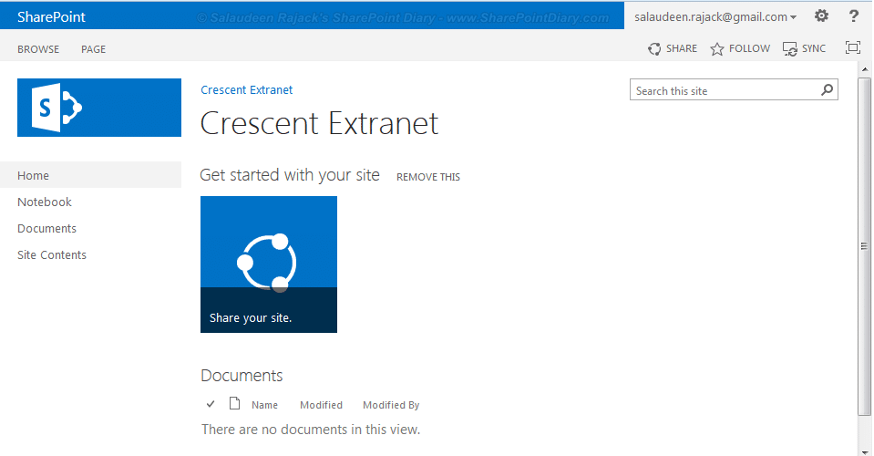 sharepoint 2013 login with google account