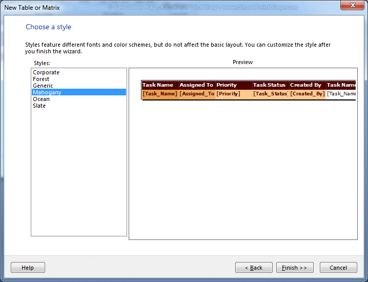 sharepoint 2010 reporting services list
