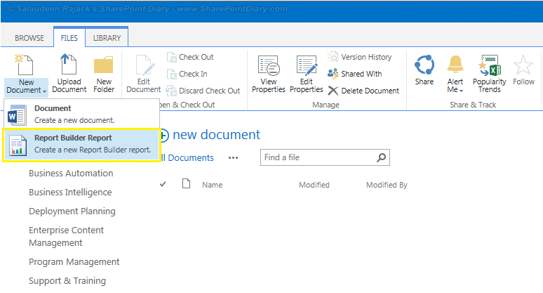 sharepoint reporting services