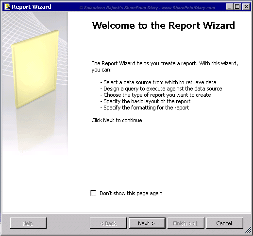 2 report wizard