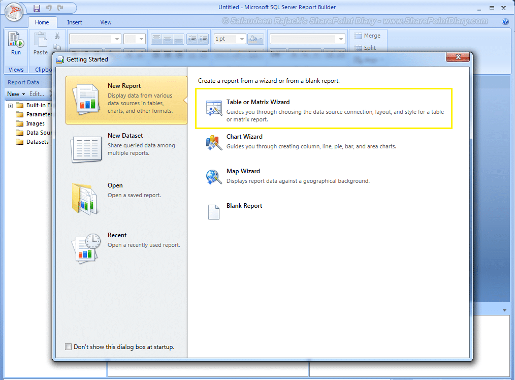 sharepoint reporting services tutorial