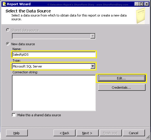 3 datasource setup in ssrs report project