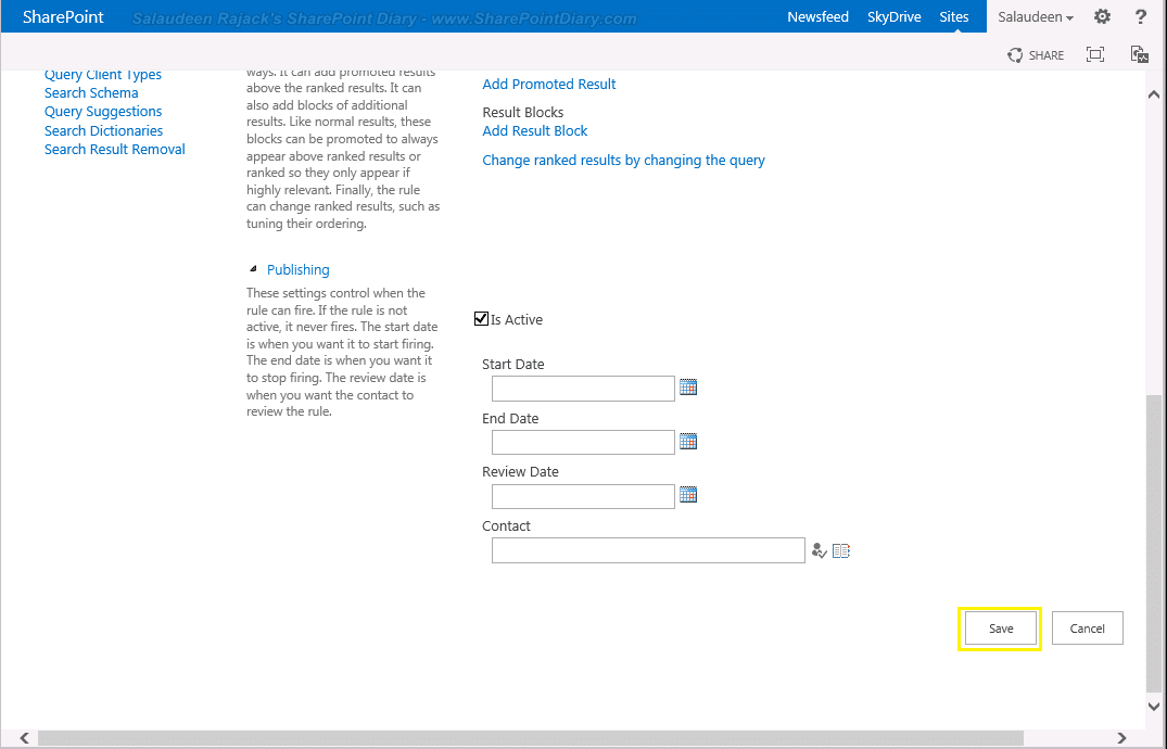 sharepoint 2016 promoted search result