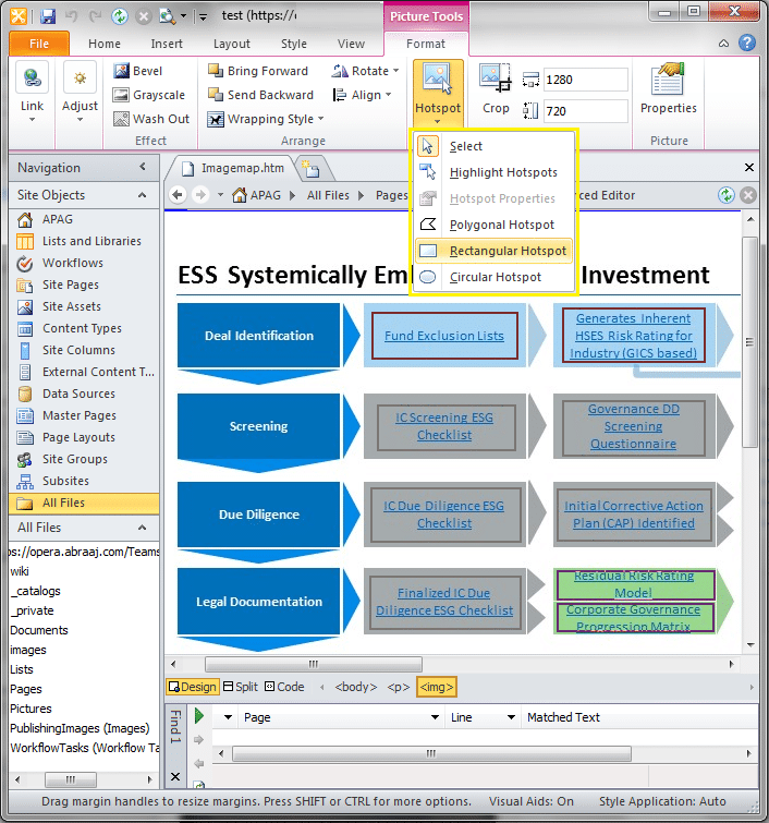 image map sharepoint content editor