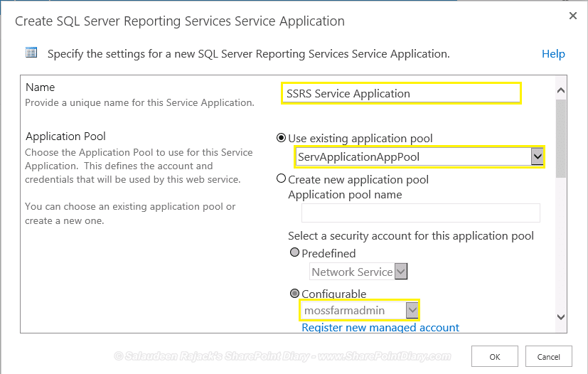 SQL Server 2012 Reporting Services Service App Creation