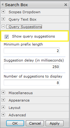 enable search query suggestions in sharepoint 2010