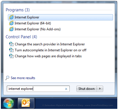 internet explorer 32 bit version