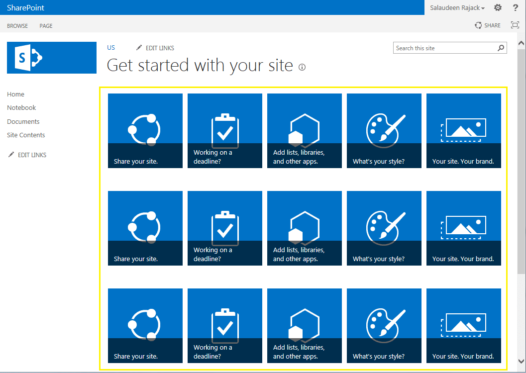 sharepoint 2013 get started with your site web part customize