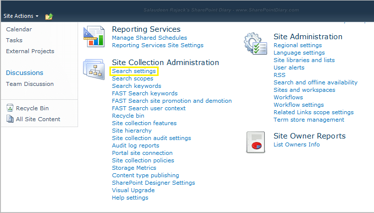 sharepoint 2010 search scope drop down missing