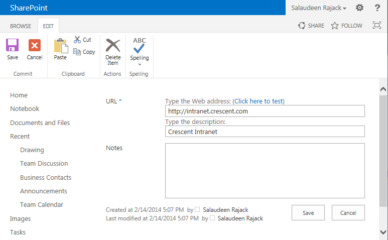 Add New Item to SharePoint Link list with PowerShell
