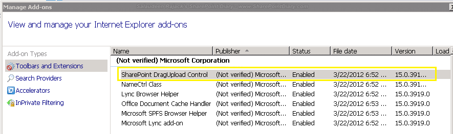 sharepoint 2013 drag and drop browser support