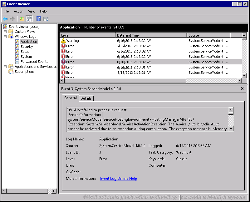 event viewer event 3