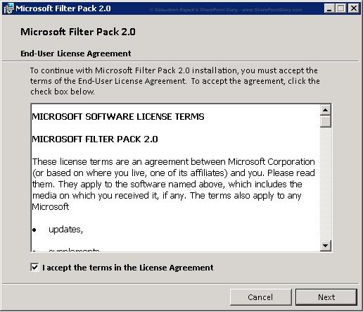 install office 2010 filter pack