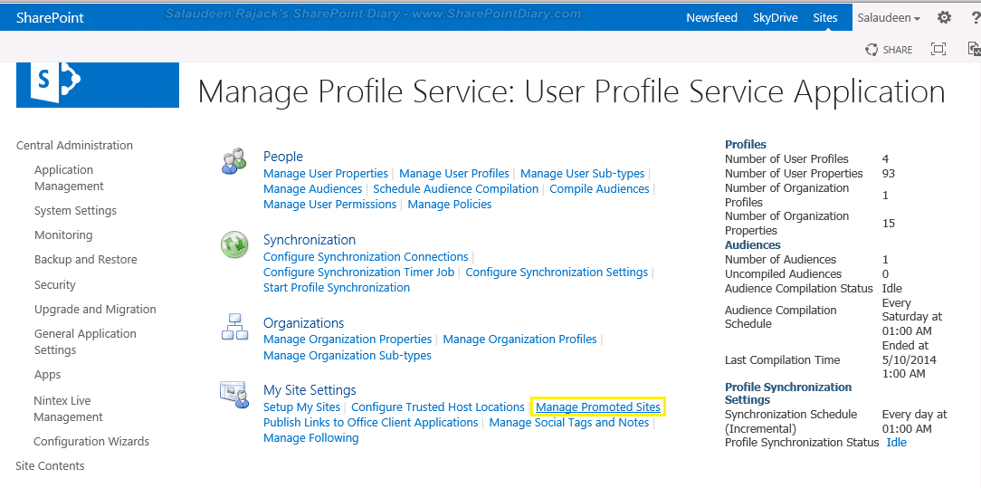 sharepoint 2013 promoted sites