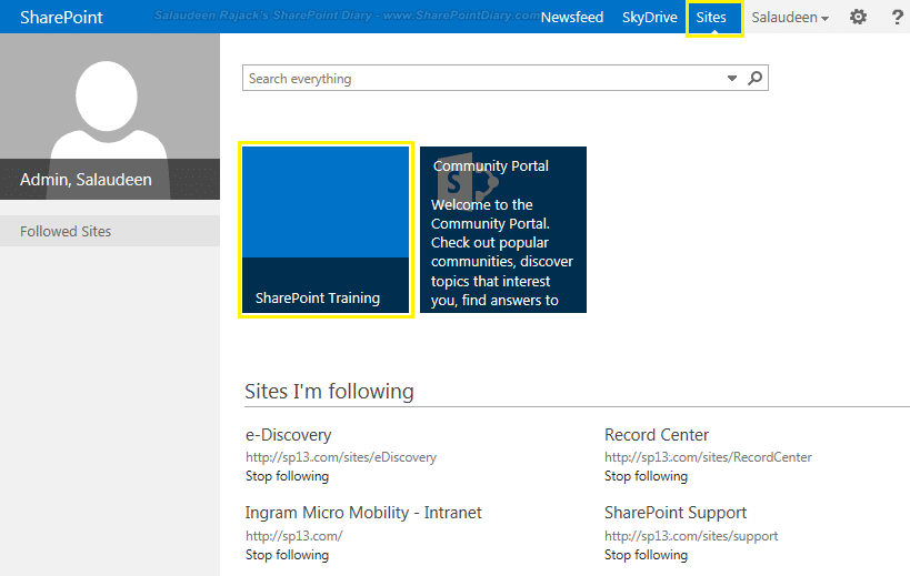 sharepoint 2013 manage promoted sites