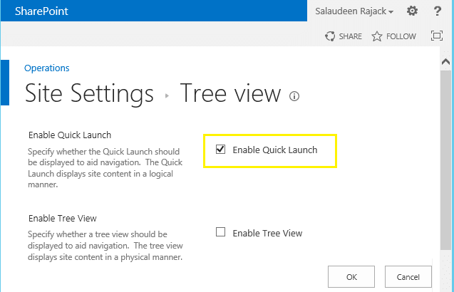 disable quick launch in sharepoint 2013
